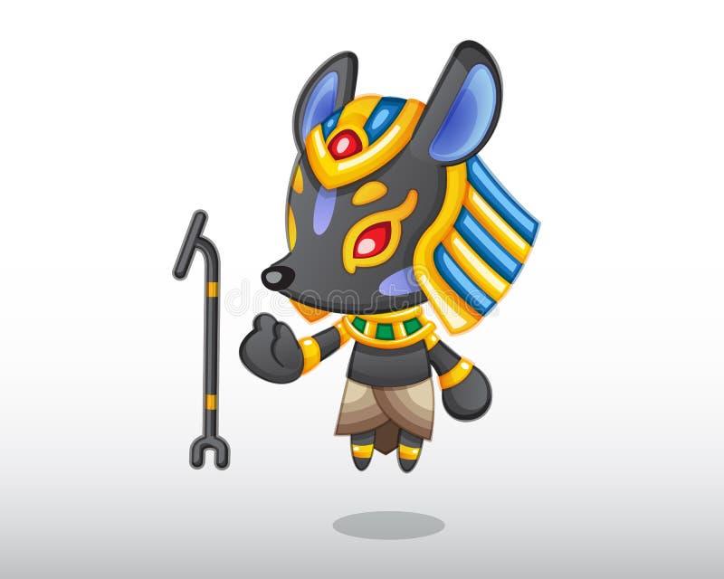 Illustrazione di Anubis di vettore royalty illustrazione gratis