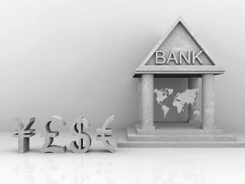 Illustrazione di attività bancarie globalmente illustrazione di stock