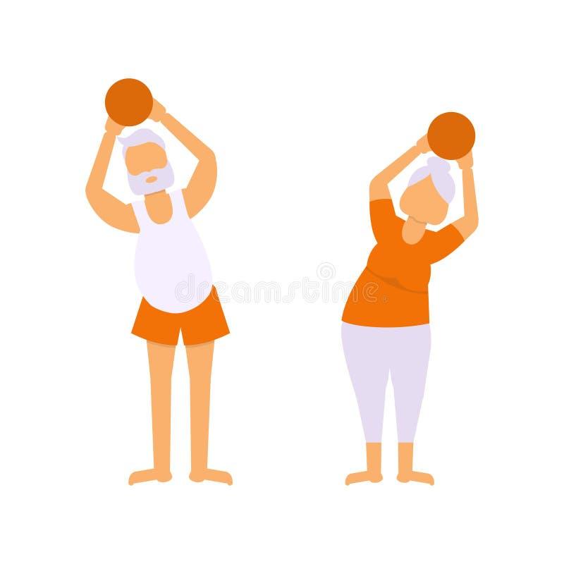 Illustrazione di attività degli anziani royalty illustrazione gratis