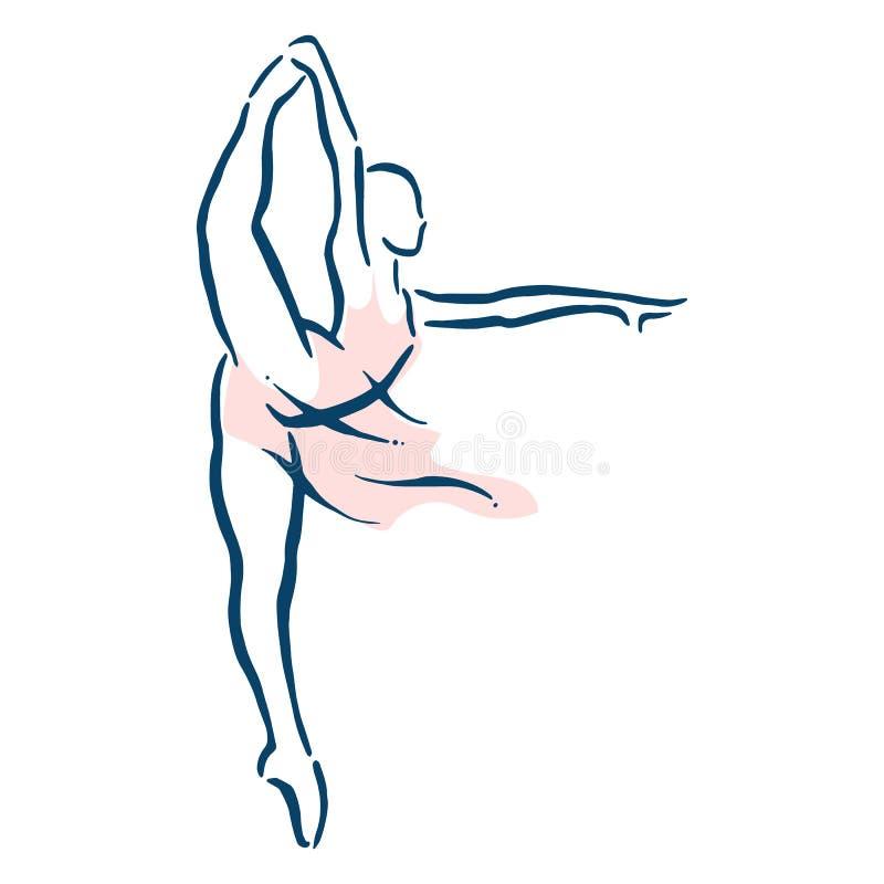 Illustrazione di balletto dancer fotografie stock libere da diritti