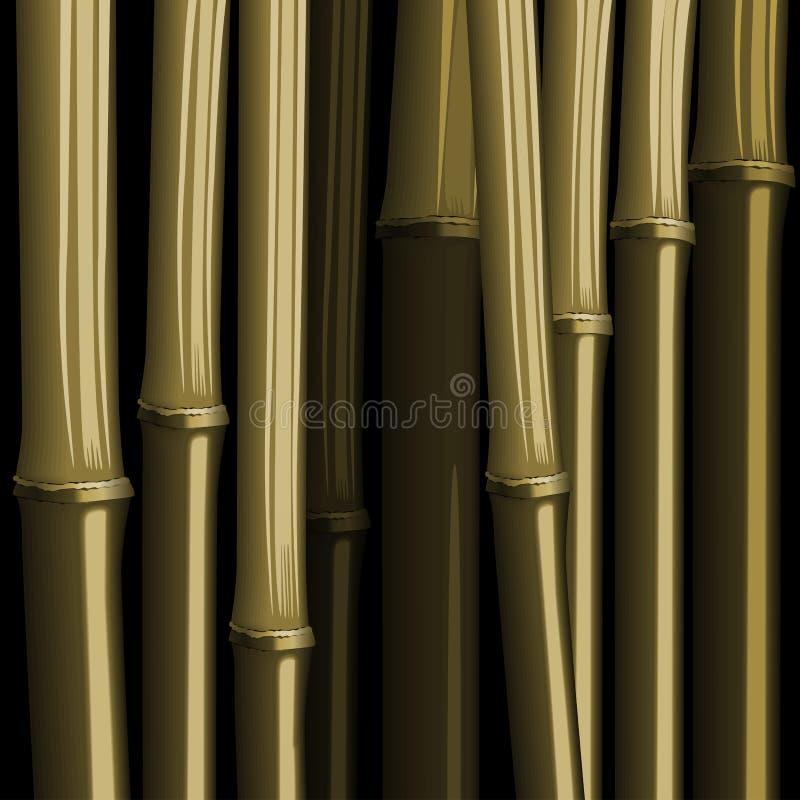 Illustrazione di bambù astratta della giungla del fogliame della foresta royalty illustrazione gratis