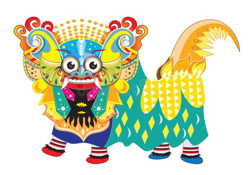 Illustrazione di Barong Bali fotografie stock libere da diritti