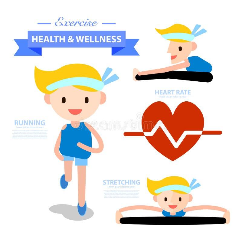 Illustrazione Di Benessere E Di Salute Illustrazione Vettoriale Illustrazione Di Testo Maratona 54783741