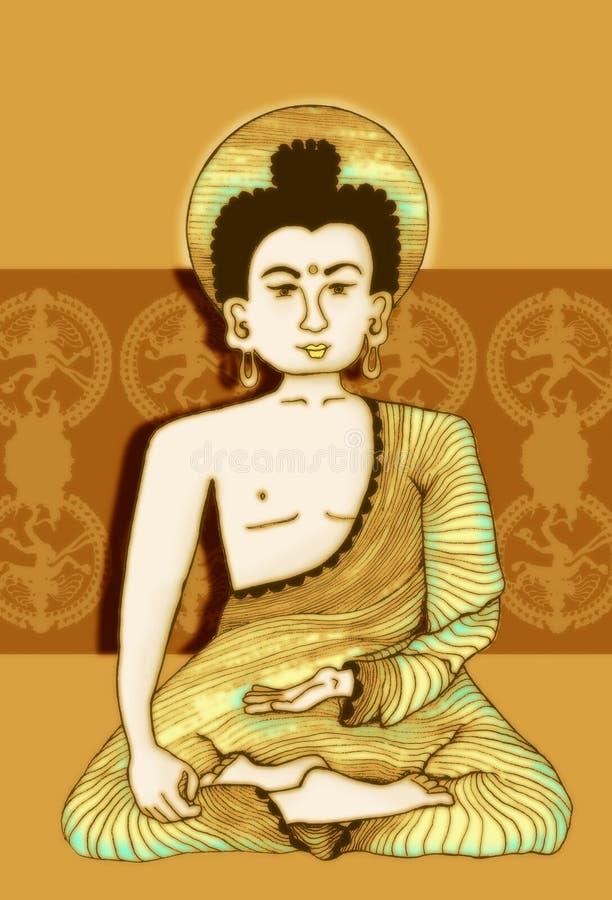 Illustrazione di Budda fotografia stock