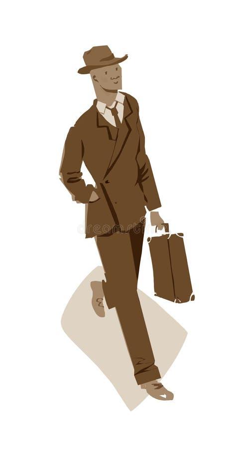 Illustrazione di camminata dell'uomo immagini stock libere da diritti