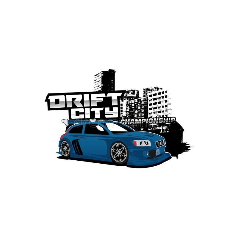 Illustrazione di campionato della città della deriva illustrazione di stock