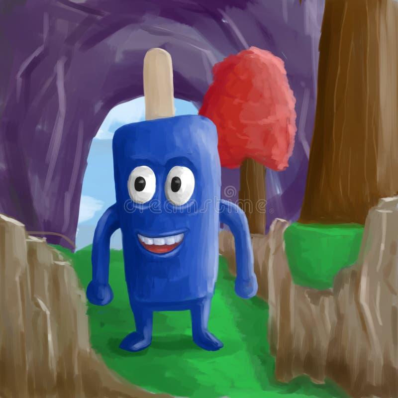 Illustrazione di Candy della crema di es royalty illustrazione gratis