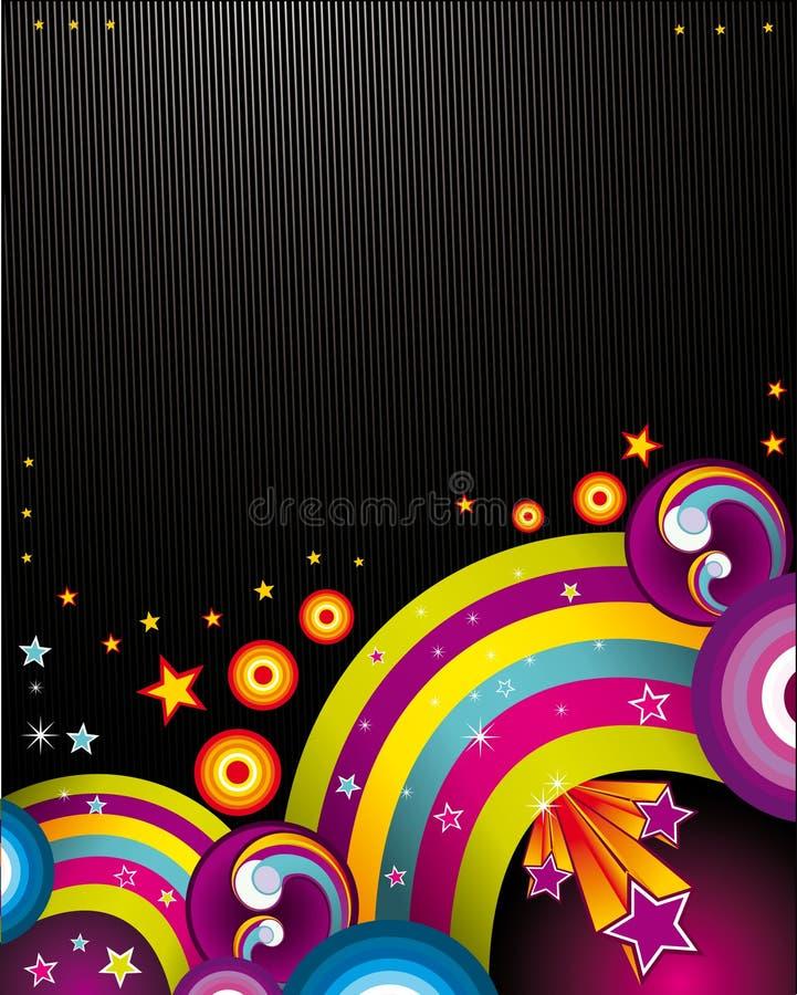 Illustrazione di colore astratta illustrazione di stock