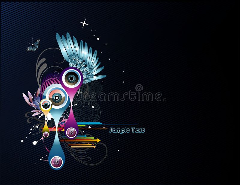 Illustrazione di colore astratta di vettore royalty illustrazione gratis