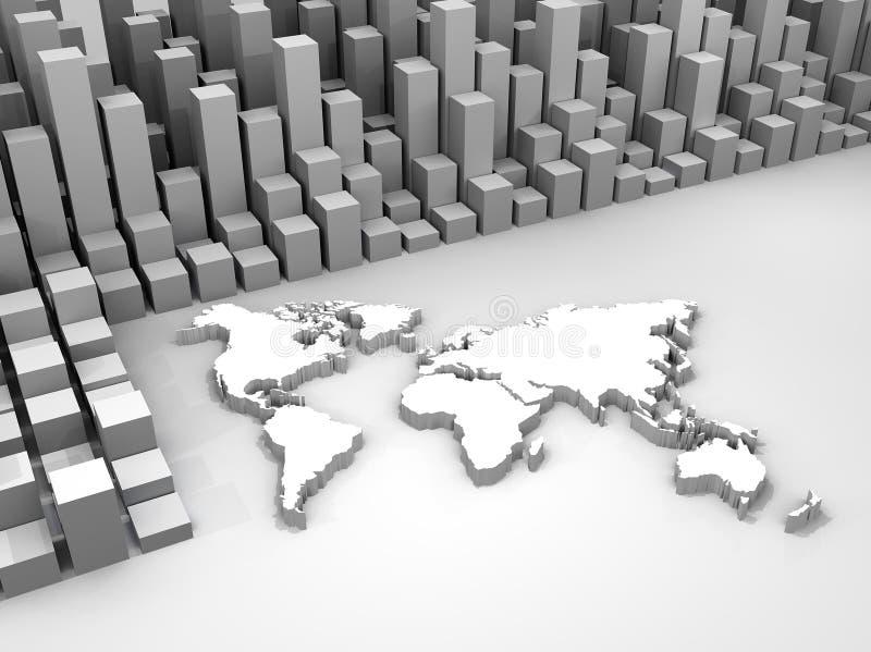 Illustrazione di commercio delle azione intorno al mondo illustrazione di stock