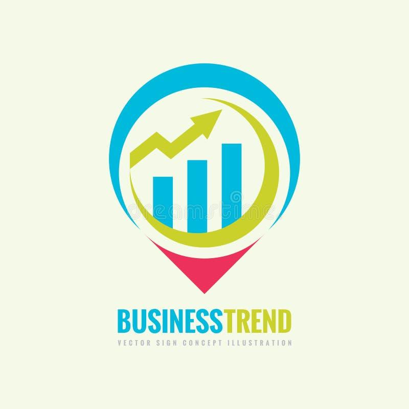 Illustrazione di concetto del modello di logo di vettore di tendenza di affari Grafico di Infographic e segno creativo della frec royalty illustrazione gratis