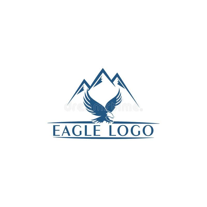 Illustrazione di concetto dell'icona di logo di Eagle Mountain Vector Logo dell'uccello Logo di Eagle Elemento astratto di proget illustrazione vettoriale