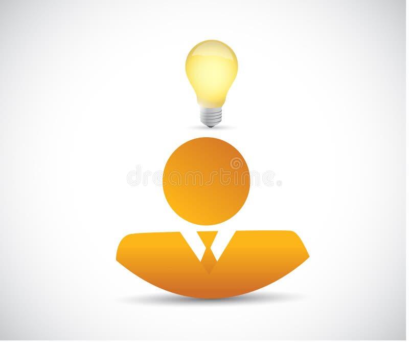 Illustrazione di concetto di idea di affari illustrazione di stock