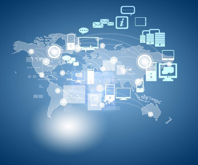 Illustrazione di concetto di Internet illustrazione vettoriale