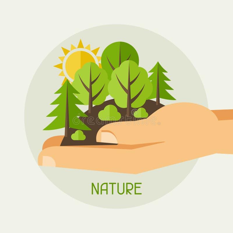 Illustrazione di concetto di protezione di ecologia royalty illustrazione gratis
