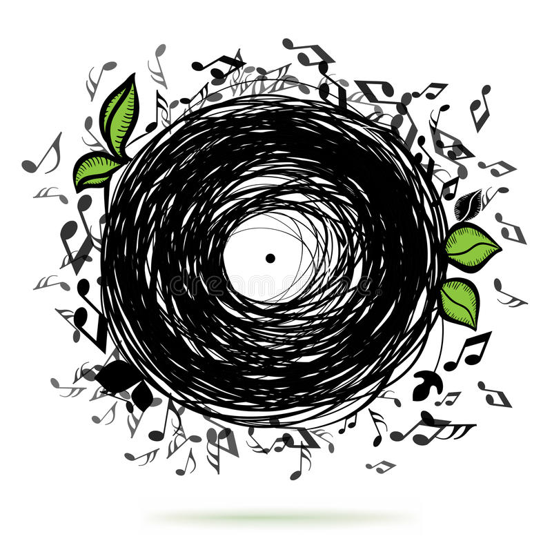 Illustrazione di concetto di schizzo di musica royalty illustrazione gratis