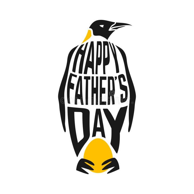 Illustrazione di congratulazione di concetto con il pinguino illustrazione di stock