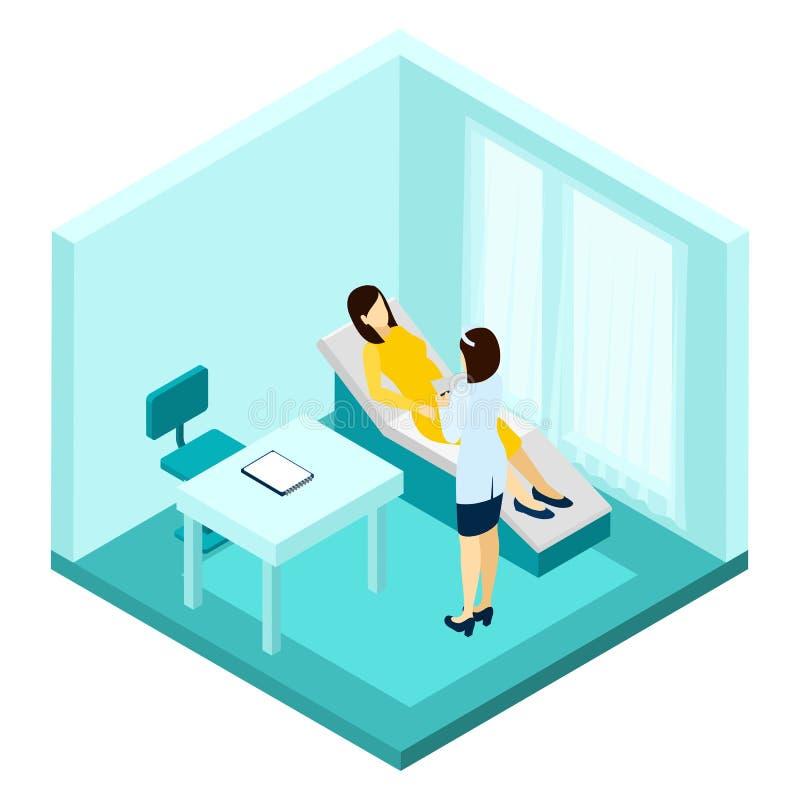 Illustrazione di consultazione di gravidanza illustrazione di stock