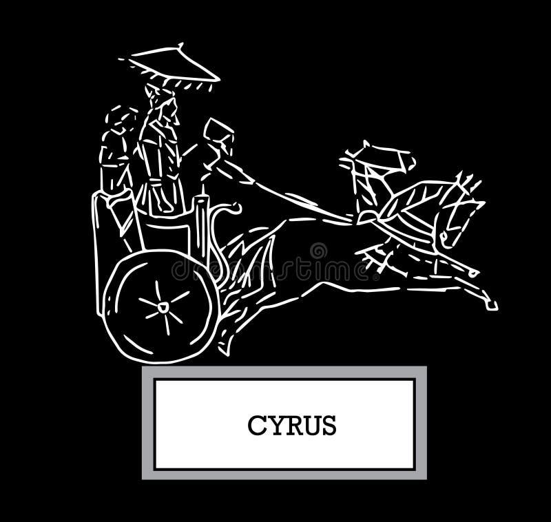 Illustrazione di Cyrus illustrazione vettoriale