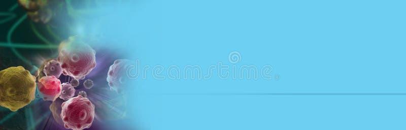 Illustrazione di Digital 3d delle cellule tumorali fotografia stock