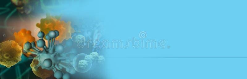 Illustrazione di Digital 3d delle cellule tumorali fotografia stock libera da diritti