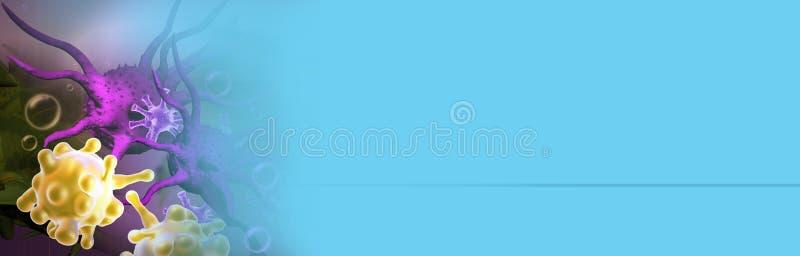 Illustrazione di Digital 3d delle cellule tumorali fotografie stock libere da diritti