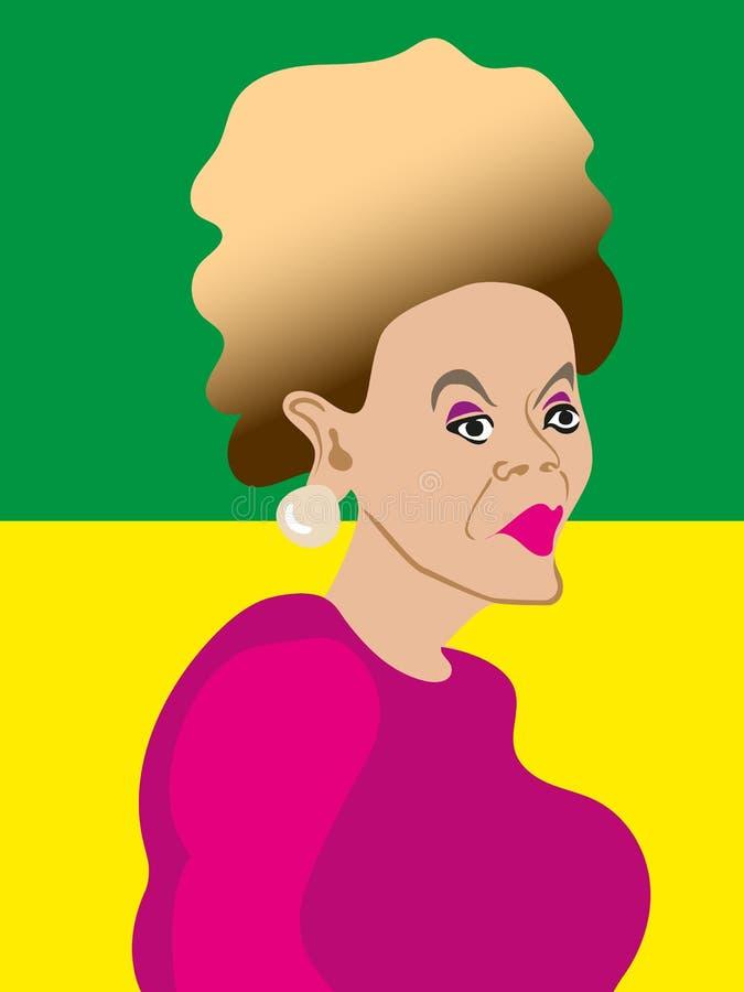 Illustrazione di Dilma Rousseff fotografia stock