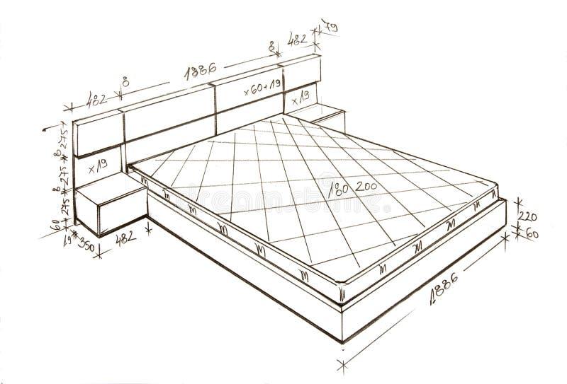 Illustrazione di disegno a mano libera moderna di disegno interno. royalty illustrazione gratis