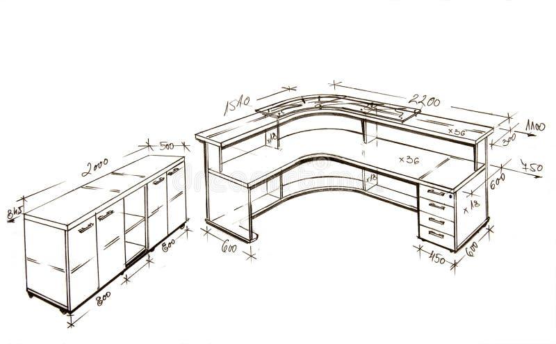 Illustrazione di disegno a mano libera moderna di disegno interno. illustrazione vettoriale