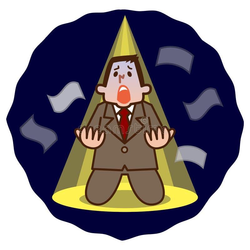 Illustrazione di disperazione dell'uomo d'affari illustrazione di stock