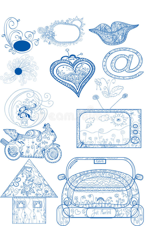 Illustrazione di Doddle royalty illustrazione gratis