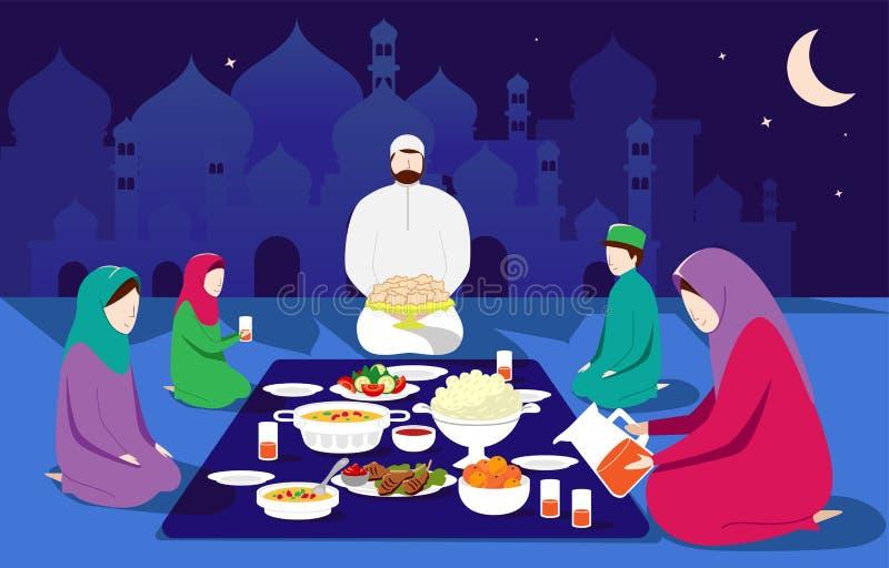 Illustrazione di Eid Al Fitr Mubarak, festa tradizionale musulmana di vettore illustrazione vettoriale