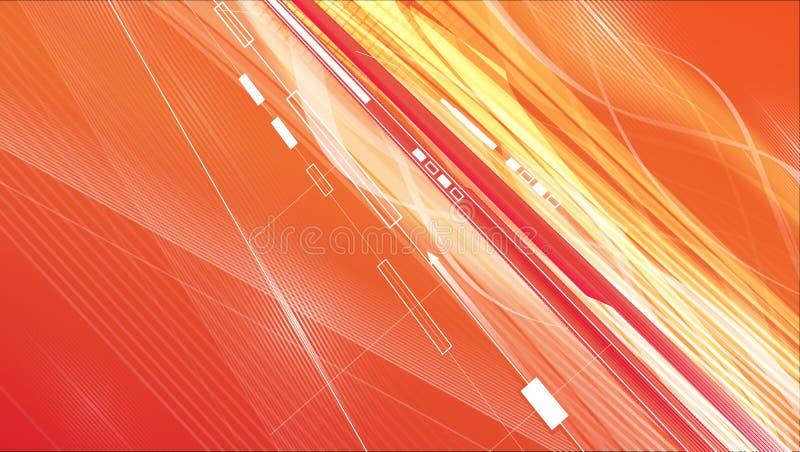 Illustrazione di flusso di dati illustrazione vettoriale