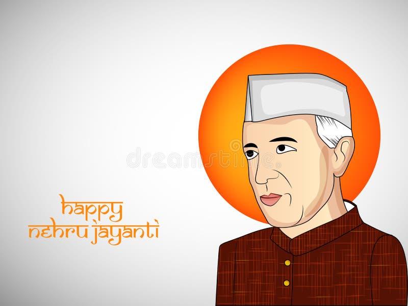 Illustrazione di fondo per Jawaharlal Nehru Jayanti illustrazione di stock