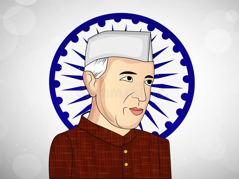 Illustrazione di fondo per Jawaharlal Nehru Jayanti illustrazione vettoriale