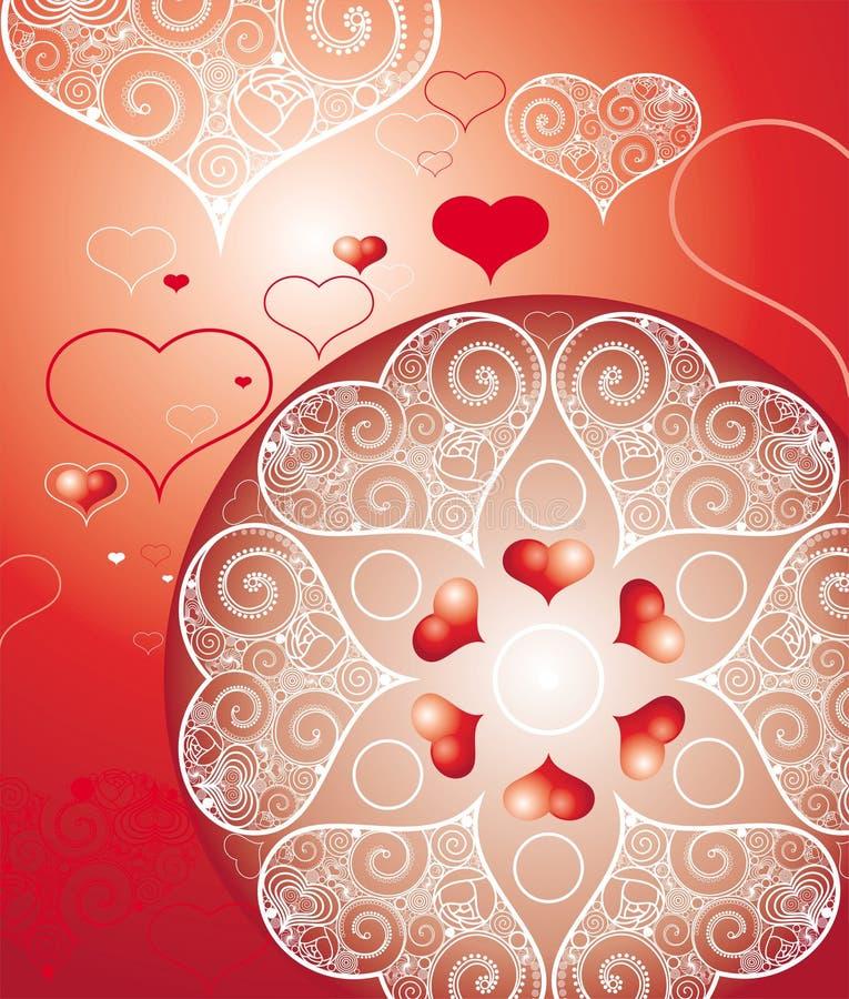 Illustrazione di giorno dei biglietti di S. Valentino illustrazione vettoriale