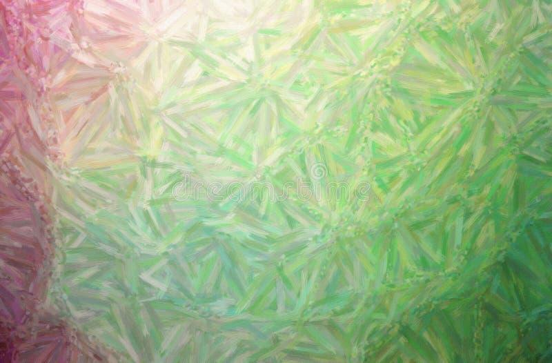 Illustrazione di grande fondo verde della pittura della pittura ad olio di variazione di colore, digitalmente generata illustrazione di stock