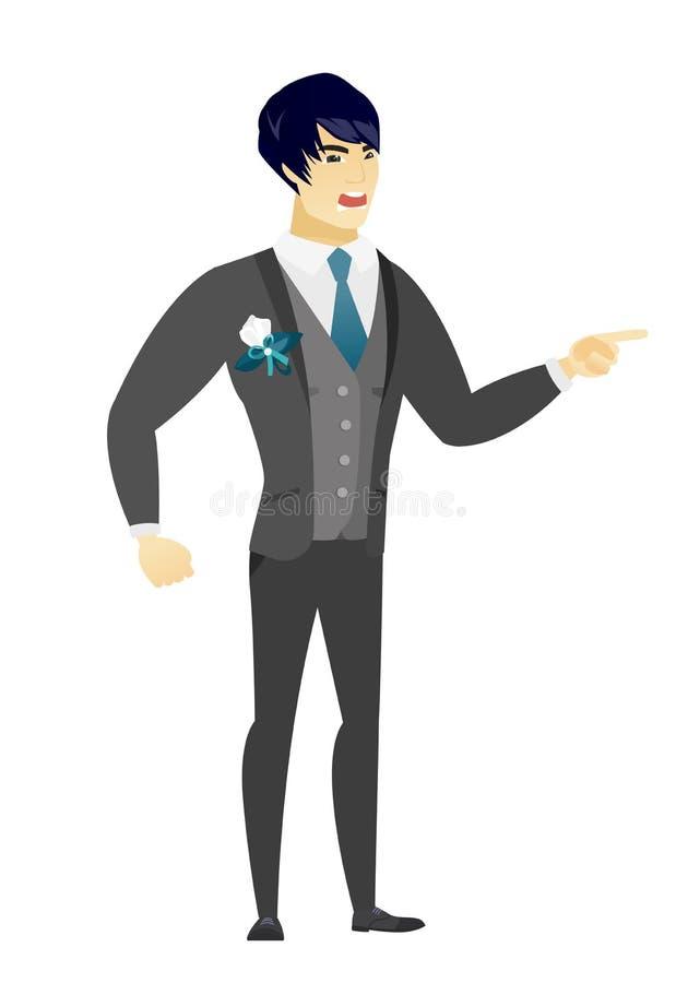 Illustrazione di grido di vettore dello sposo furioso royalty illustrazione gratis