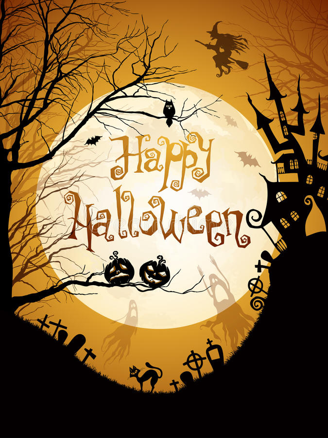 Illustrazione di Halloween illustrazione di stock