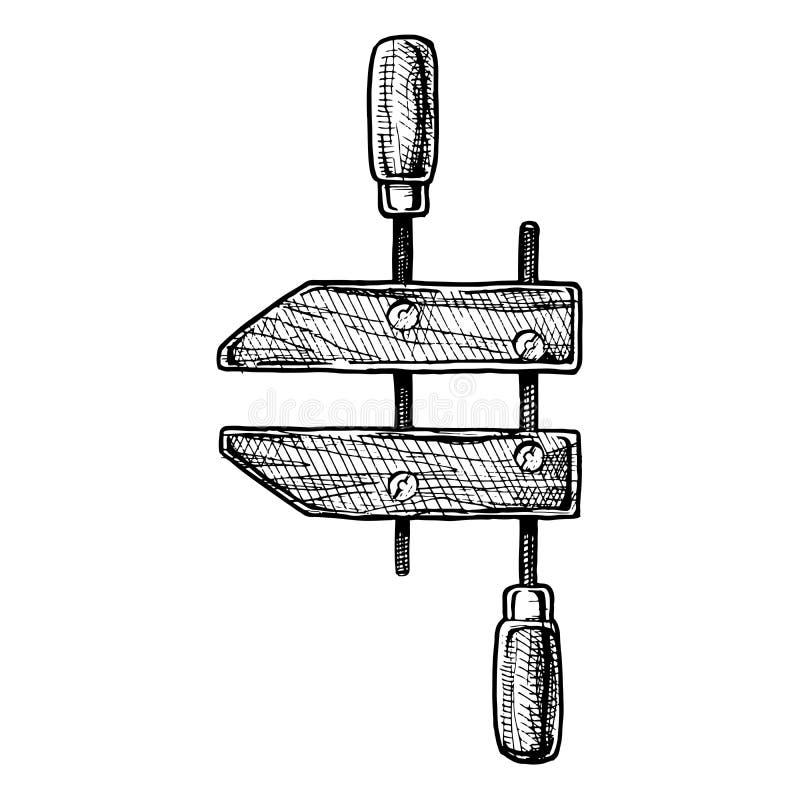 Illustrazione di handscrew illustrazione vettoriale