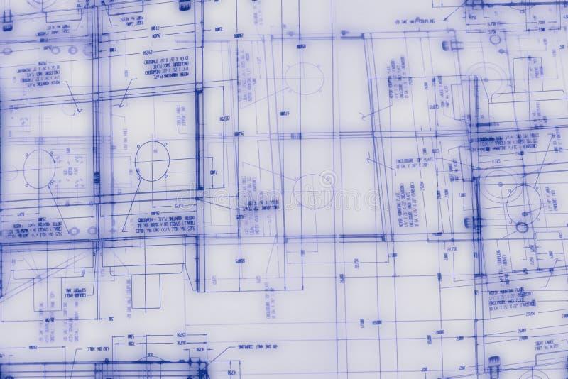 Illustrazione di ingegneria astratta immagine stock