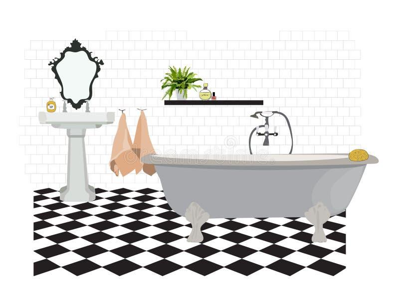 Insieme disegnato a mano degli elementi del bagno modello for Elementi bagno