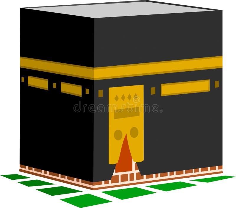 Illustrazione di Kaaba in La Mecca royalty illustrazione gratis