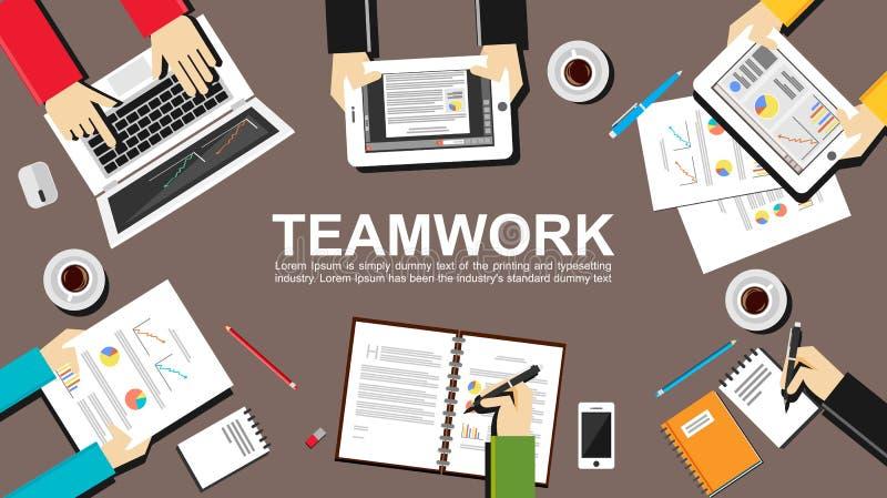 Illustrazione di lavoro di squadra concetto di lavoro di for Concetto aperto di piani coloniali