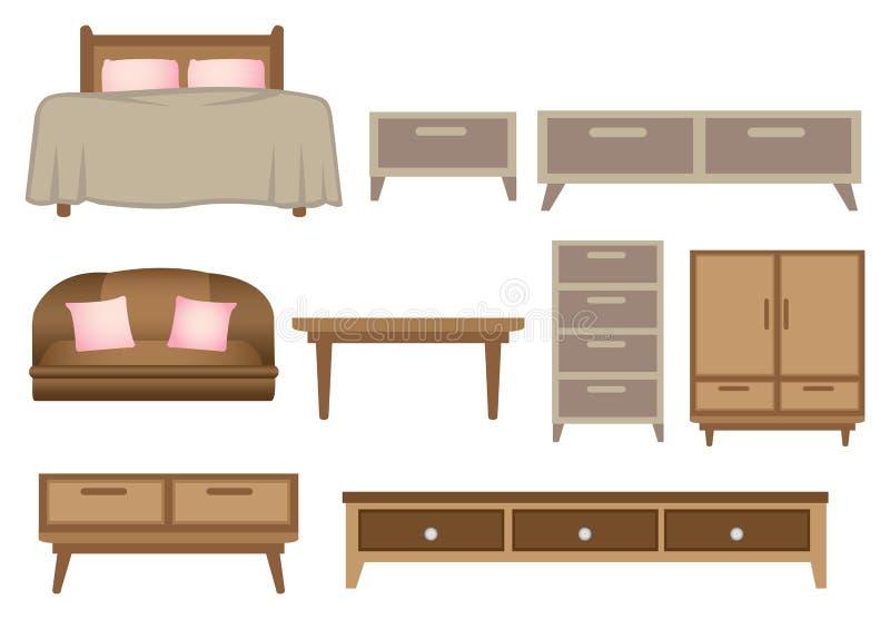 Illustrazione di legno di vettore della mobilia royalty illustrazione gratis