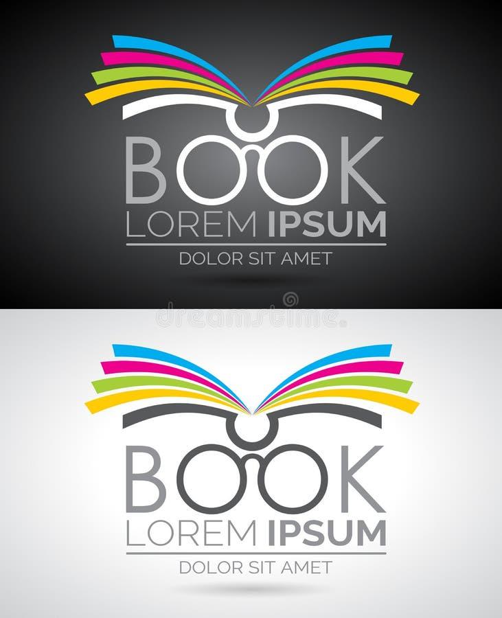 Illustrazione di logo del libro di vettore Modello dell'icona per istruzione o la società illustrazione di stock