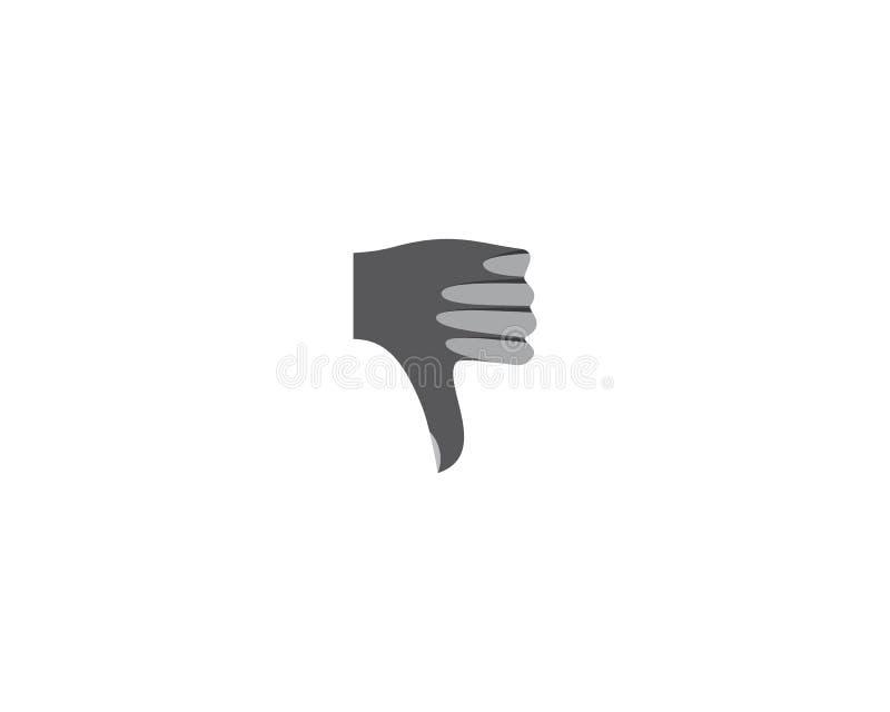 Illustrazione di logo del pollice illustrazione vettoriale