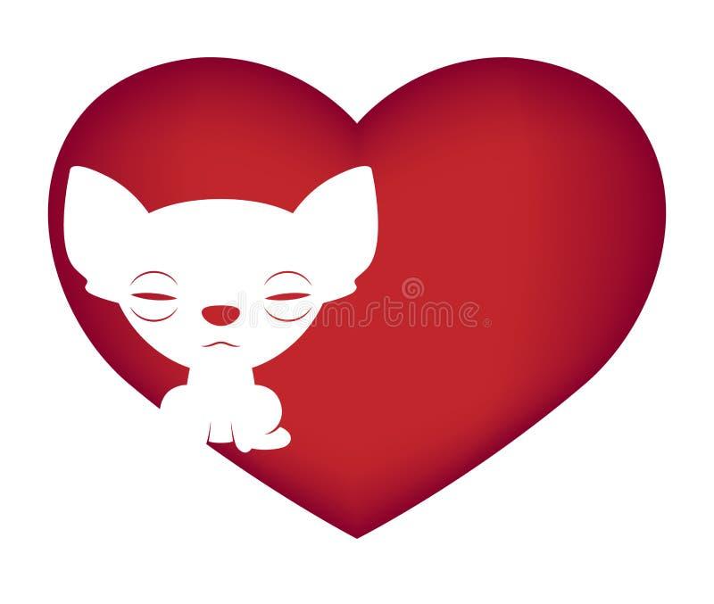 Illustrazione di logo della chihuahua su fondo bianco illustrazione vettoriale