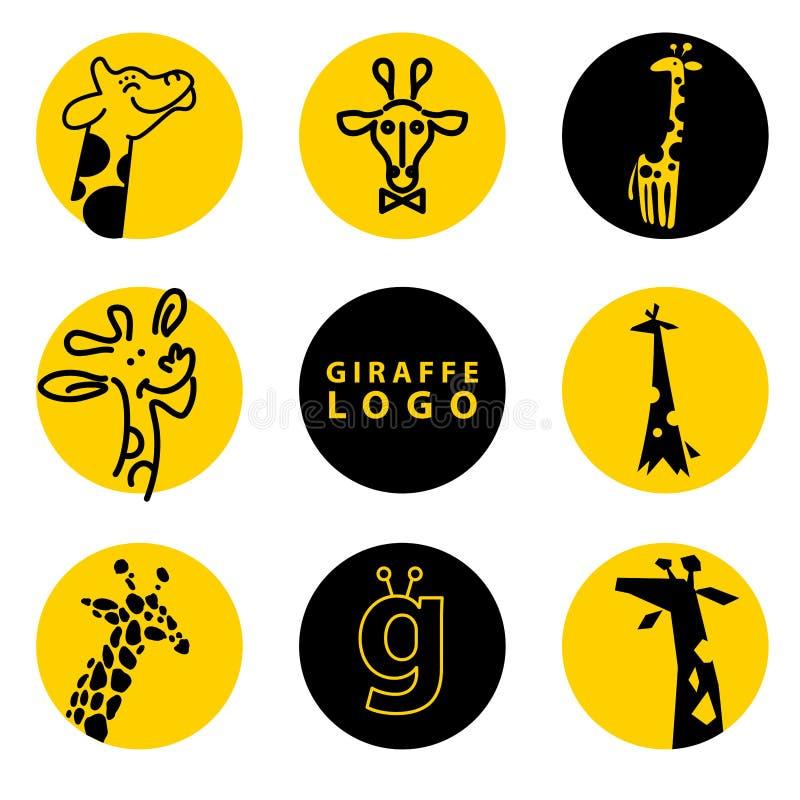 Illustrazione di logo della giraffa di vettore illustrazione di stock