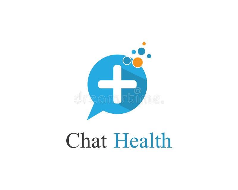 Illustrazione di logo di salute di chiacchierata royalty illustrazione gratis